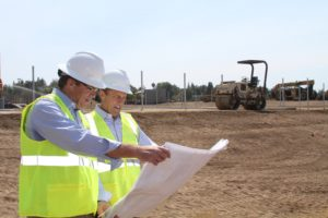 Working closely with CLU President, Chris Kimball to ensure the LA Rams have a great training facility.